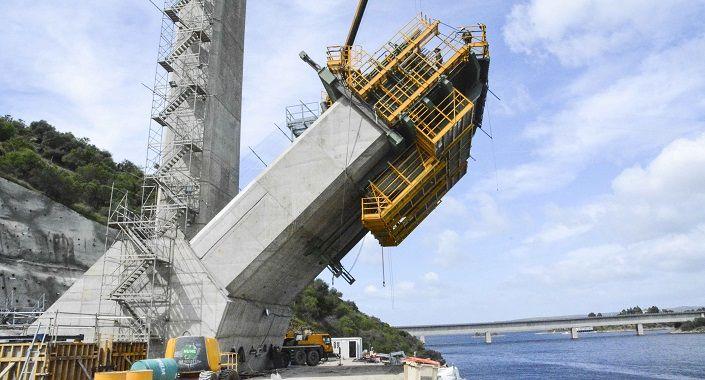 hormigón de alta resistencia viaducto
